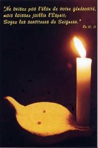 Image éditée par le Service Diocésain des Vocations de la Manche à l'occasion de la Fête de la Vie Consacrée, le 2 février