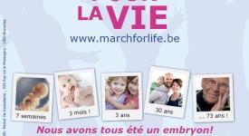 Marcher pour la vie à Bruxelles dimanche 27 mars