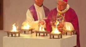 Nouvel autel, nouvel ambon pour le Carmel de Profondval