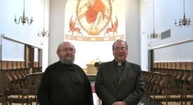 Mgr Vancottem visite le monastère de Chevetogne