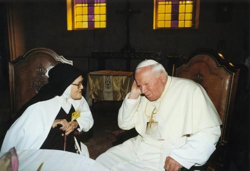 Jean-Paul II et soeur Lucie