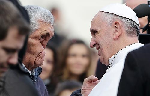 Pape francois - baiser