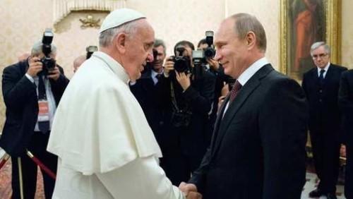 Poutine et le pape