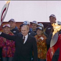 Poutine-flamme olympique