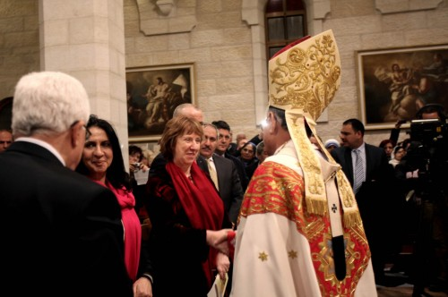 Catherine Ashton in Bethlehem