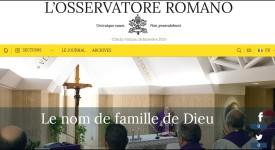 L'Osservatore romano en libre accès sur Internet