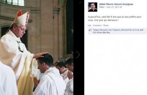 Abbé Grosjean Facebook