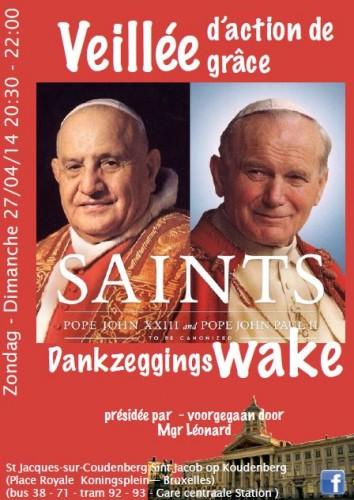 veillée canonisations