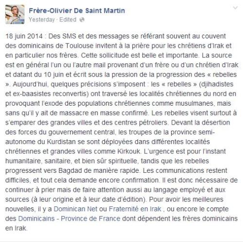 Frère Olivier De Saint Martin
