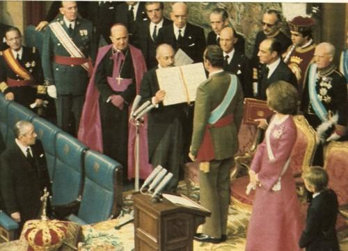 Prestation de serment Juan Carlos 1975