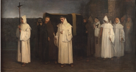 Constantin Meunier - L'enterrement du trappiste