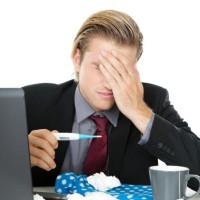 malade au travail