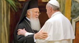 François et Bartholomée pour l'unité des chrétiens et la paix au Proche-Orient