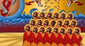 Une icône en hommage aux 21 martyrs coptes décapités par l'EI