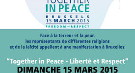 Bruxelles : Marche nationale « Together in Peace » le 15 mars