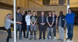 Namur: Mgr Vancottem en visite pastorale à l'École de la Providence à Étalle