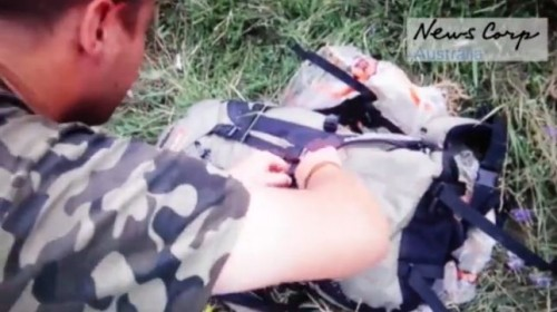 Capture video zone crash MH17