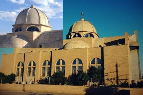 Eglise syro-orthodoxe Saint Ephrem à Mossoul (Irak) transformée en mosquée par l'EI