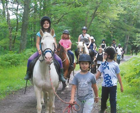 Balade à dos de cheval lors du camp à Spa d'Amijoie
