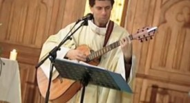 L'abbé Danny-Pierre Hillewaert en route pour Fleurus