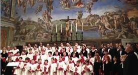 Première mondiale pour le Choeur de la chapelle Sixtine