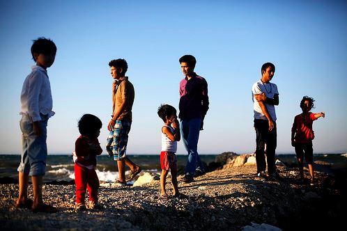 HCR réfugiés afghans Lesbos web