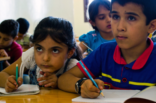 enfants Syrie école