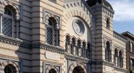 Extérieur de la synagogue de Liège