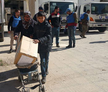 Aide humanitaire en Syrie (© UNRWA)