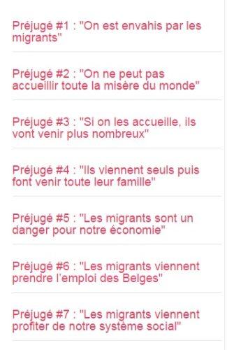 Liste des préjugés