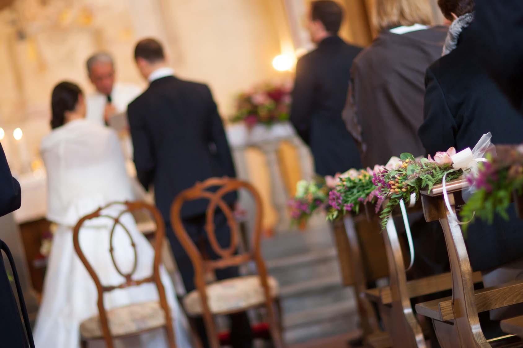 chiusa addobbata per matrimonio