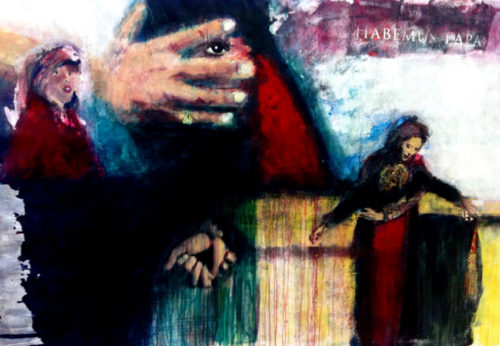 """""""Habemus papa"""" peinture d'Evangeli Papavassiliou"""