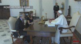 La princesse Marie-Esméralda de Belgique reçue par le pape
