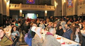 Ramadan : Un repas de rupture de jeûne dans une église de Molenbeek