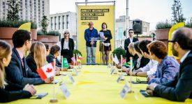Un mini-Sommet pour les réfugiés face à Bruxelles-Central