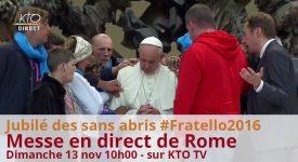 KTO: messe en direct de Rome pour les personnes en situation d'exclusion