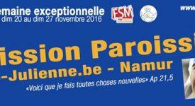Grande mission paroissiale à Sainte-Julienne de Salzinnes-Namur