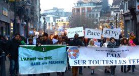 Liège – Enthousiasme à la traditionnelle marche pour la paix avec Sant'Egidio