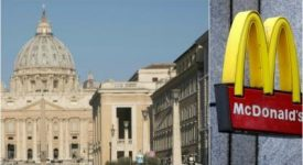 Le «McDo du Vatican» va nourrir les sans-abri