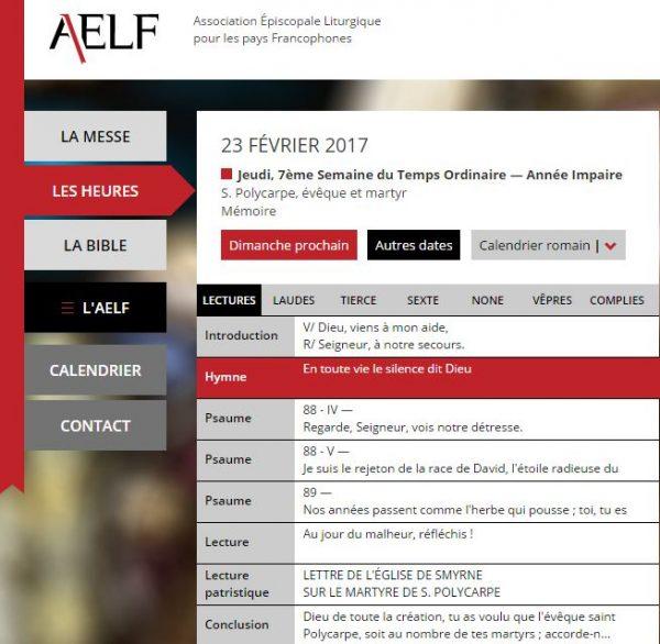 Un nouveau site pour l'AELF
