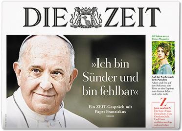 """Le Pape à Die Zeit : """"je ne suis pas un homme exceptionnel"""""""