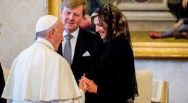 Willem-Alexander et Maxima chez le pape François