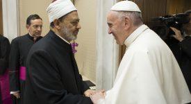 Le pape a rencontré le grand imam d'Al-Azhar