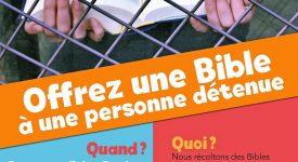 Des Bibles derrière les barreaux: action de partage du Vicariat de Bruxelles
