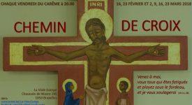 Ixelles – Le chemin de Croix, préparation vers Pâques
