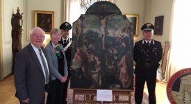 Mons : le tableau volé remis à la Fabrique Sainte-Waudru