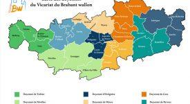 Les nouveaux doyennés en Brabant wallon