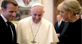 Le président Macron au Vatican
