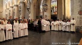 Photos de la veillée de Pentecôte à la cathédrale de Bruxelles