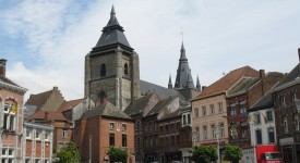 Messe en Eurovision depuis la collégiale Saint-Vincent à Soignies